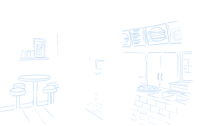 Capture survey data in a restaurant