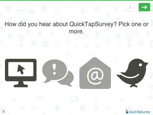 Question Types | QuickTapSurvey