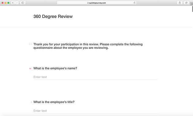 Employee 360 Review Template