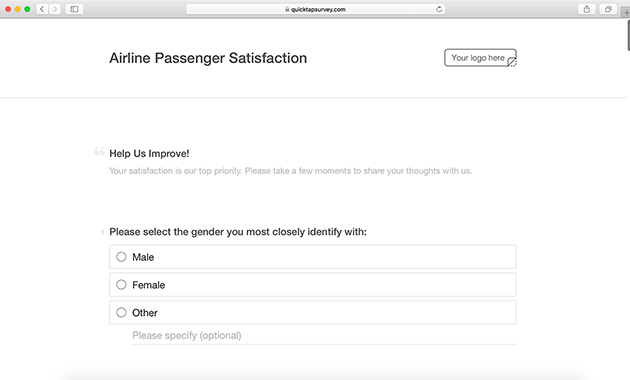 Airline Satisfaction Survey Template