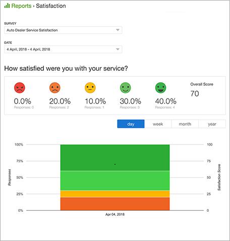 An Example of a Survey Report> Alt: Auto Dealer Service Survey Template