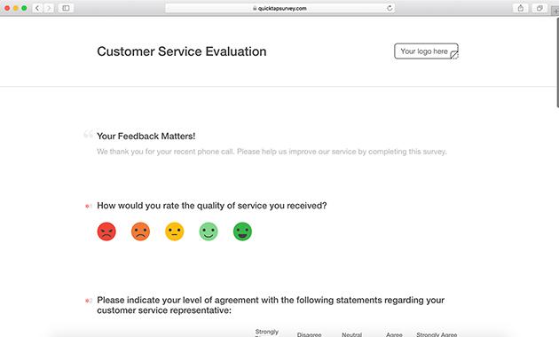 Mobile Evaluation Form Templates QuickTapSurvey