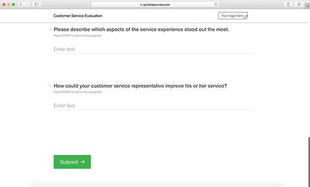 please describe your customer service experience