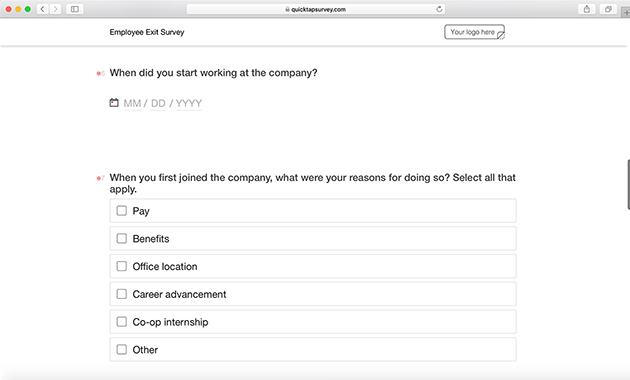 Intern Exit Interview Template from www.quicktapsurvey.com