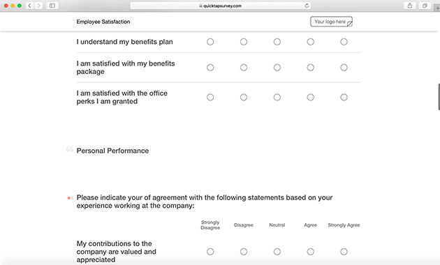 Online employee satisfaction survey template quicktapsurvey employee satisfaction survey template maxwellsz