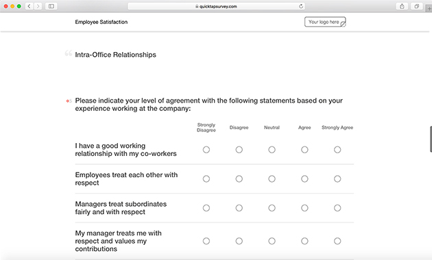 High Quality Employee Satisfaction Survey Template