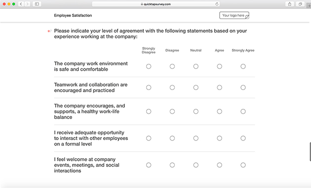 employee satisfaction survey template  u0026 questions