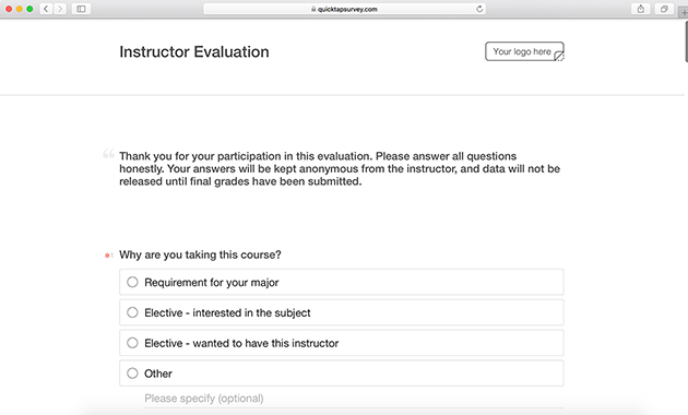 Instructor Evaluation Form Template