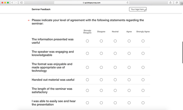 Seminar Survey Template Gallery  Template Design Ideas
