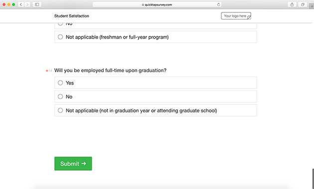 Student satisfaction survey template quicktapsurvey what is a student satisfaction survey maxwellsz