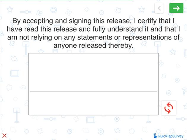 Online Waiver Release Form Template Quicktapsurvey