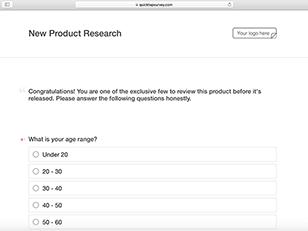research survey templates quicktapsurvey