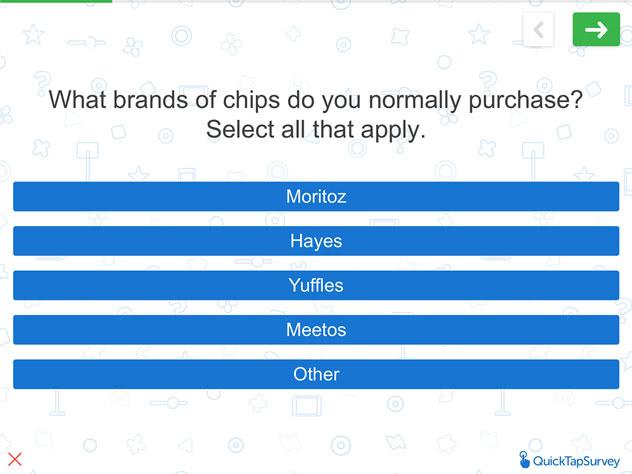 Live Product Testing Survey Template  Quicktapsurvey