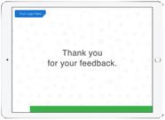 End screen for offline survey