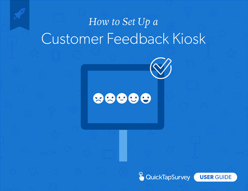 customer feedback kiosk guide book